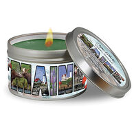 Cape Shore Balsam Maine Photo Collage Travel Candle