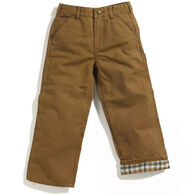 Carhartt Boy's Flannel Lined Duck Dungaree Pant