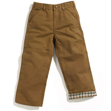 Carhartt Boys Flannel Lined Duck Dungaree Pant