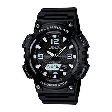 Casio AQS810W-1AV World Time Solar-Powered Sports Watch