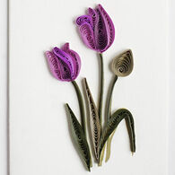 Quilling Card Purple Tulip Gift Enclosure Card