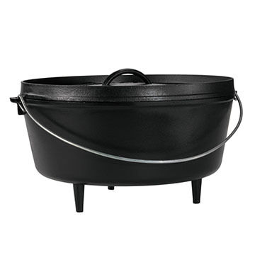 "Lodge 14"" / 10 Quart Deep Camp Dutch Oven"