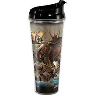 American Expedition Moose Collage Tall Acrylic Tumbler