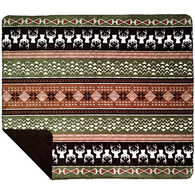 Monterey Mills Nordic Deer Chocolate Throw Blanket