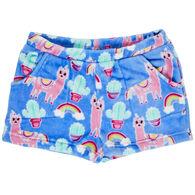 Candy Pink Girl's Llama Pajama Short