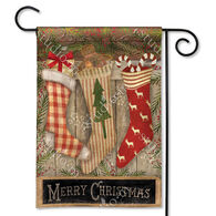 BreezeArt Christmas Stockings Decorative Garden Flag