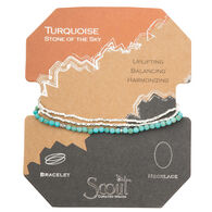 Scout Curated Wears Women's Delicate Stone Turquoise/Silver Bracelet/Necklace