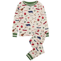 Hatley Boy's Summer Camp Organic Cotton Pajama Set