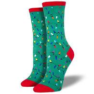 Socksmith Women's Christmas Lights Crew Sock