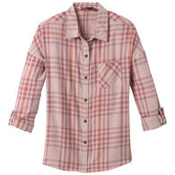 prAna Women's Percy Organic Cotton Flannel Long-Sleeve Shirt