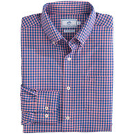 Southern Tide Men's Causeway Gingham Intercoastal Performance Sport Long-Sleeve Shirt