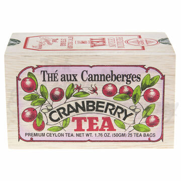 Metropolitan Cranberry Tea Soft Wood Chest, 25-Bag