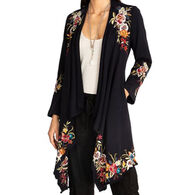 Johnny Was Women's Isla Draped Cardigan Coat