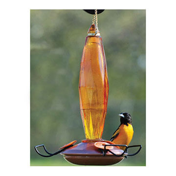 Audubon Jewel Cut Glass Oriole Feeder