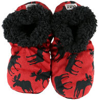 Lazy One Women's Classic Moose Fuzzy Feet Slipper