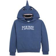 Wild Child Hoodies Boys' & Girls' Blue Shark Hooded Sweatshirt