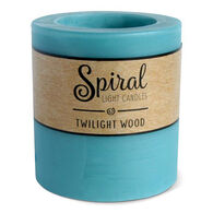 Spiral Light Small Candle - Twilight Wood