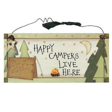 Timeless By Design Happy Camper Sign