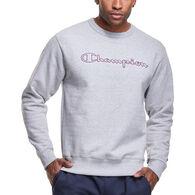 Champion Men's Powerblend Graphic Outline Stitch Logo Crew Sweatshirt