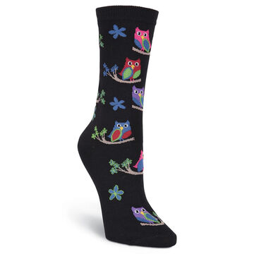 K. Bell Womens Colorful Owls Sock