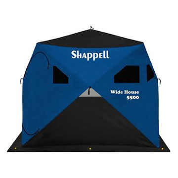 Shappell Wide House 5500 Hub-Style 3-Person Ice Shelter