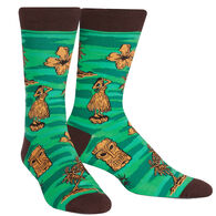Sock It To Me Men's Tiki Toes Crew Sock