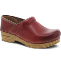 Dansko Women's Professional Coral Waxy Burnished Leather Clog