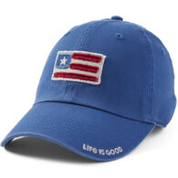 Life is Good Women's American Flag Tattered Chill Cap