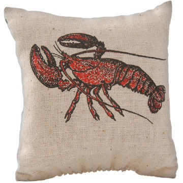 "Maine Balsam Fir 4"" x 4"" Lobster Balsam Pillow"