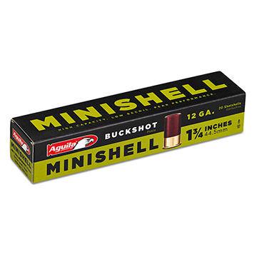 "Aguila 12 GA 1-3/4"" 11 Pellet #4 / #1 5/8 oz. Minishell / Buckshot Ammo (20)"