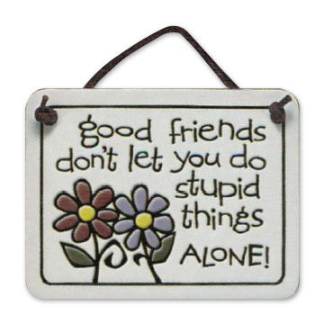 "Spooner Creek ""Good Friends Don't Let"" Mini Charmers Tile"