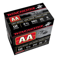 "Winchester AA Target Low Recoil Low Noise 12 GA 2-3/4"" 26 Grain Shotshell Ammo (25)"
