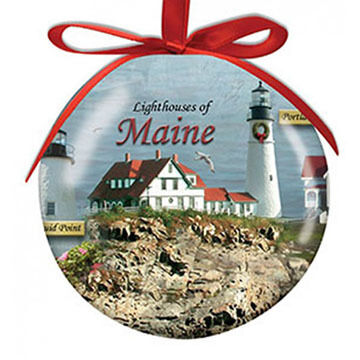 Cape Shore Spliced Ball Lighthouses Of Maine Ornament