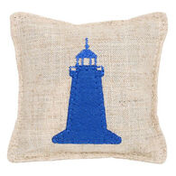 "Paine Products 3.5"" x 3.5"" Lighthouse Applique Balsam Pillow"