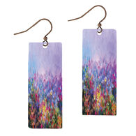 Illustrated Lights Women's DC Designs Watercolor Rectangle Earring