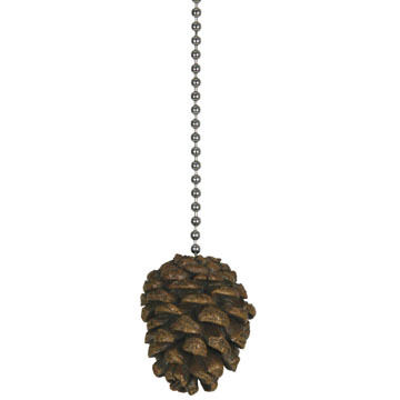 Rivers Edge Pine Cone Fan Pull