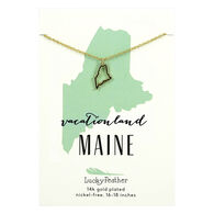 Lucky Feather Women's Maine State Necklace