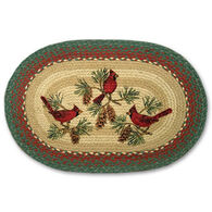 Capitol Earth Braided Oval Cardinals Rug