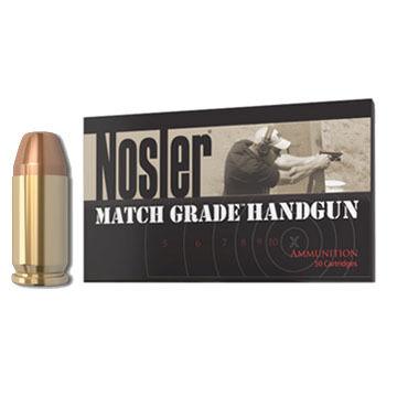 Nosler Match Grade 40 Smith & Wesson 180 Grain JHP Handgun Ammo (50)