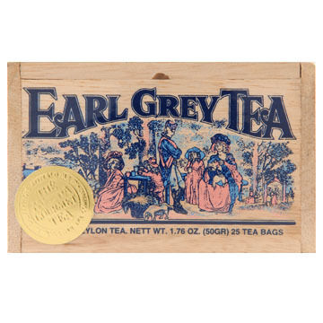 Metropolitan Earl Grey Tea Soft Wood Chest, 25-Bag