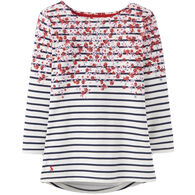 Joules Women's Harbour Printed Jersey Long-Sleeve Top