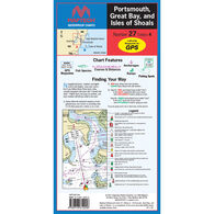 Maptech Folding Waterproof Chart - Portsmouth, Great Bay, and Isles of Shoals