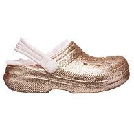 Crocs Girls' Classic Glitter Lined Clog