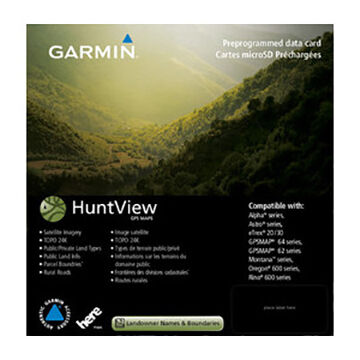 Garmin HuntView Maps Preprogrammed Data Card - New Hampshire + Vermont