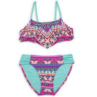 Breaking Waves Girl's Bandana Bling Bikini Two-Piece Swimsuit