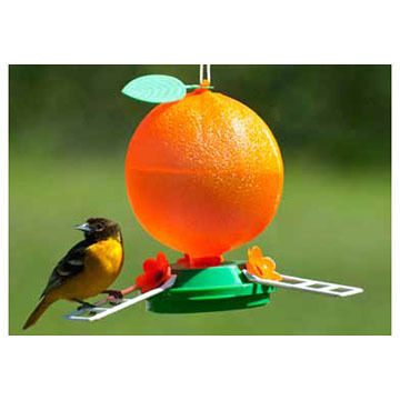 Audubon Plastic Orange Oriole Bird Feeder