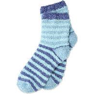 Life is Good Women's Snuggle Crew Striped Sock