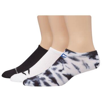 Champion Mens & Womens Tie Dye Multi Logo Super Low No Show Sock, 3/pk