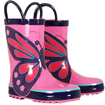 Western Chief Girls' Classic Wings Rain Boot