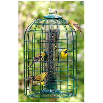 Audubon Squirrel-Resistant Caged Tube Bird Feeder